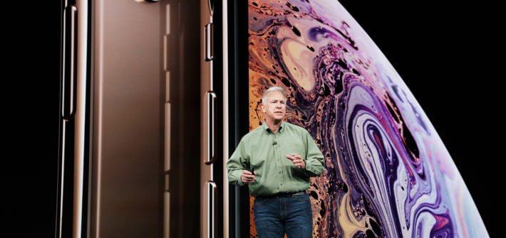 Apple keynote Phil Schiller introduces iPhone Xs