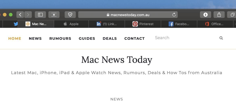 Safari tab icons macOS Mojave iOS 12