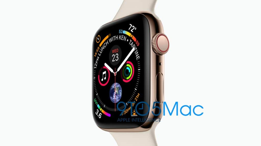 Apple Watch Series 4 leak shared by 9to5Mac.