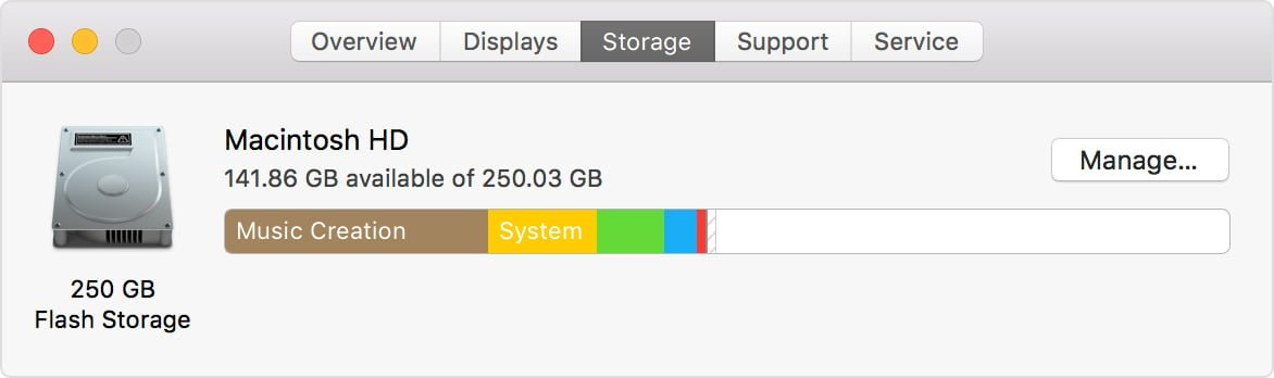 Mac hard drive free disk space