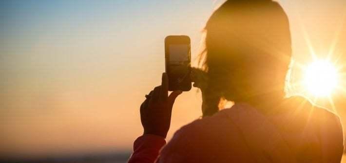 iPhone Sunset Horizon photo