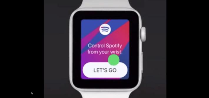 Spotify on Apple Watch watchOS