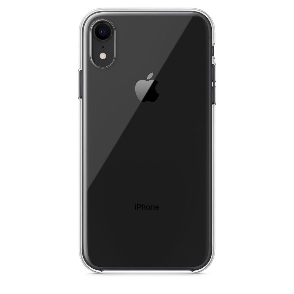 Apple iPhone XR Clear Case Black