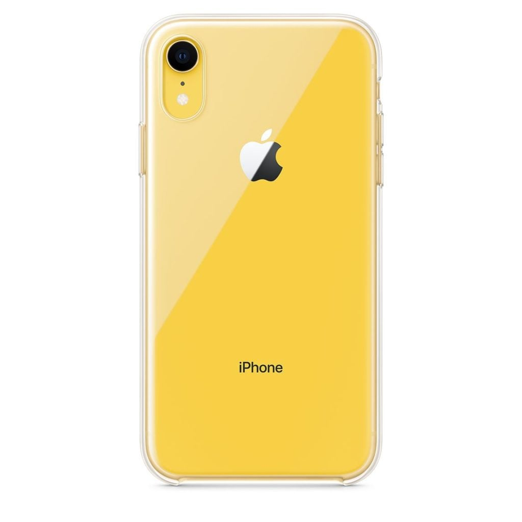 Apple iPhone XR Clear Case Yellow