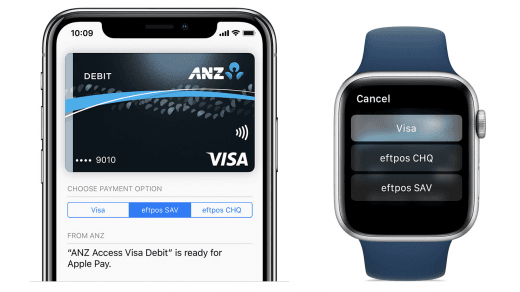 Apple Pay eftpos dual network anz